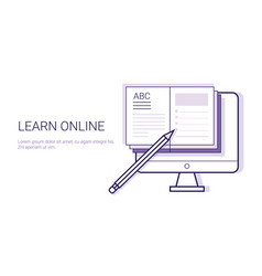 Learing online business concept elearning vector