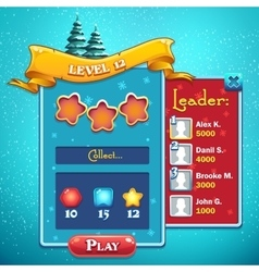 Level start game window vector image vector image