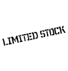 limited stock rubber stamp vector image vector image
