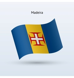 Madeira flag waving form vector