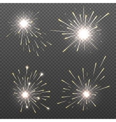 Magic spark effects burning bengal lights vector