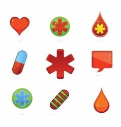 medic symbols vector image vector image