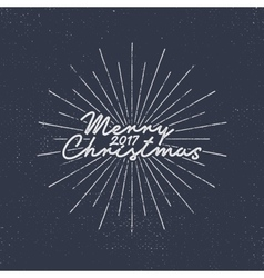 Merry christmas 2017 lettering holiday typography vector