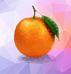 Orange polygon vector