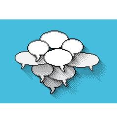 pixels bubbles vector image vector image