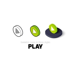 Play icon in different style vector image vector image