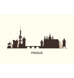 Prague skyline silhouette vector image