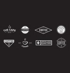 Set of coffee label different logo badge emblem vector