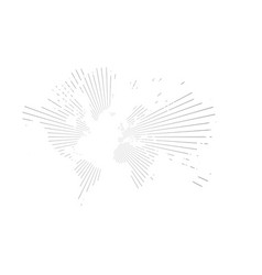 Similar abstract world map with stripes vector