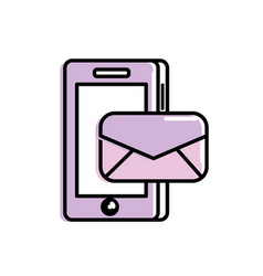 smartphone technology with e-mail message vector image