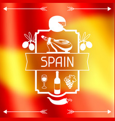 Traditional spanish food spain background design vector