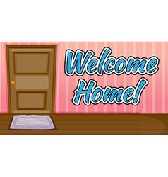 Welcome Home vector image vector image