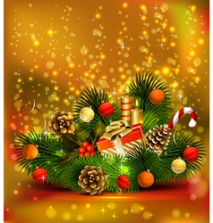 Christmas still life vector image