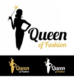 Queen of fashion logo design vector