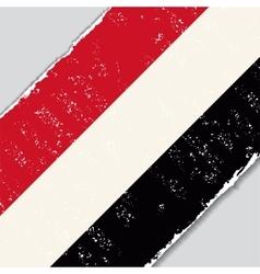 Yemeni grunge flag vector image