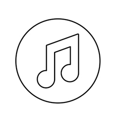 Music note symbol vector