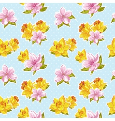 Elegant stylish spring floral seamless pattern vector