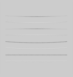 Realistic dividers with transparent shadows vector