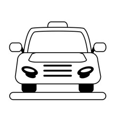 Cab flat vector