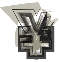 Abstract yen symbol vector