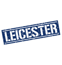 Leicester blue square stamp vector