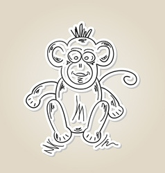 Ape sketch vector