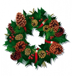 xmas wreath vector image