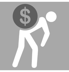 Money courier icon from business bicolor set vector