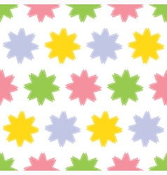 Background seamless - colored flowers vector
