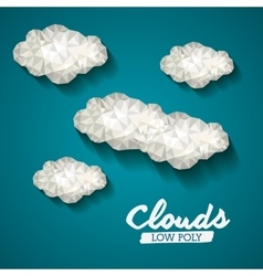 Clouds low poly design vector