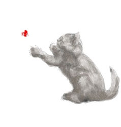 Playing cat vector