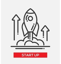 Business start up single icon vector