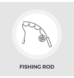 Fishing rod flat icon vector image