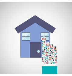 house isolated design vector image