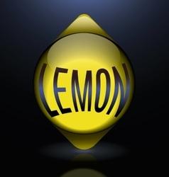 Vertical glass lemon blue text abstract vector