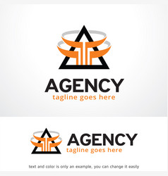 agency logo template design vector image