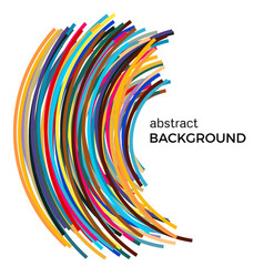 Background with multicolored curved lines vector