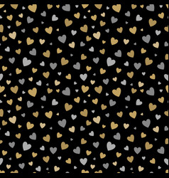 beautiful seamless pattern with gold and silver vector image vector image