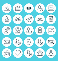 Communication icons set collection of teamwork vector