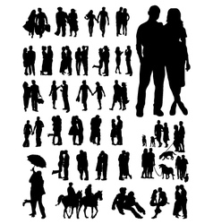 couples 2 vector image vector image