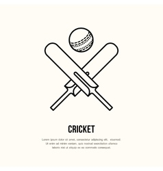 Cricket line icon Bats and ball logo vector image vector image