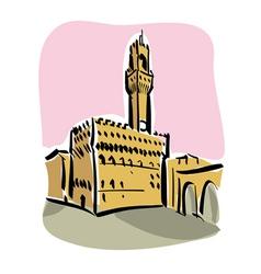 Florence piazza della signoria vector