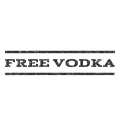 Free vodka watermark stamp vector