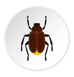 harvest bug icon circle vector image