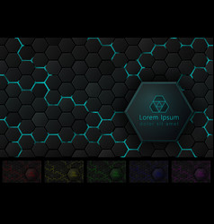 hexagonal background with pace for your logo and vector image vector image