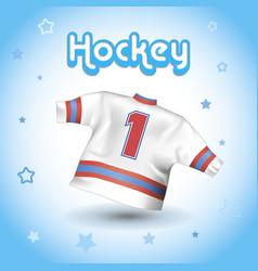 hockey t-shirt vector image vector image