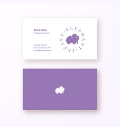 infant elephant abstract feminine sign or vector image