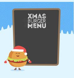 kids restaurant menu cardboard character vector image