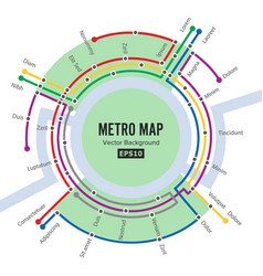 Metro map template of city transportation vector