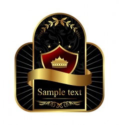 royal label vector image vector image